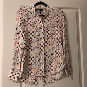 BCBG printed tieback shirt